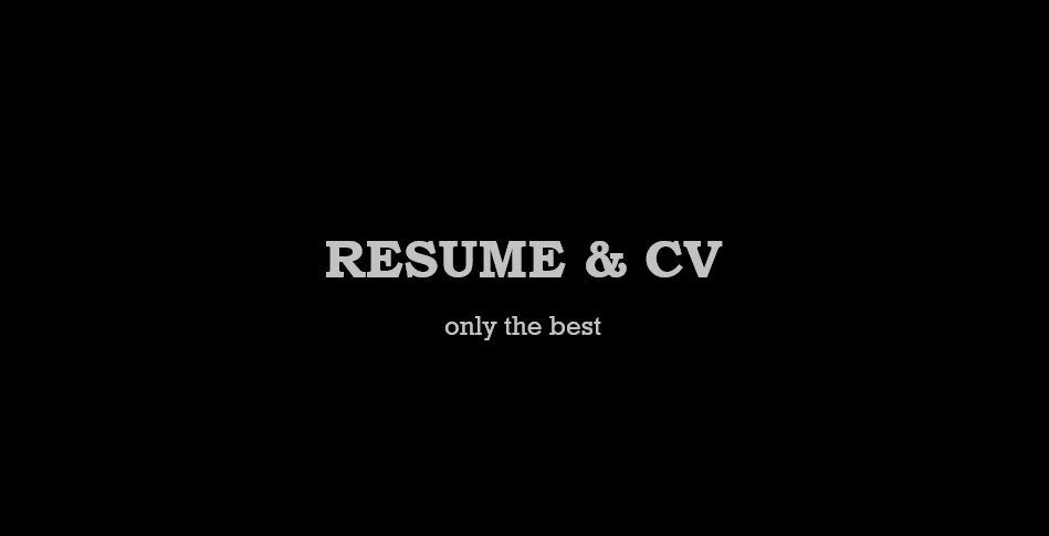 I will write outstanding resume and CVs
