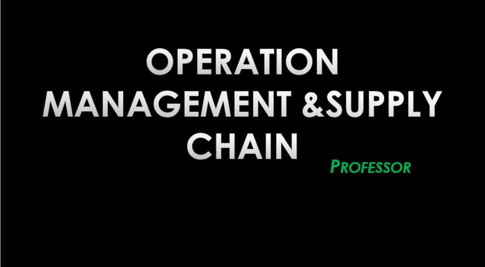 supply chain and operation management